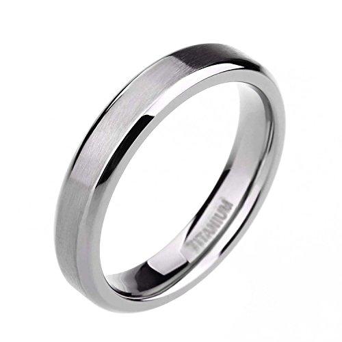 4MM/6MM/8MM/10MM Unisex Titanium Wedding Band Rings in Comfort Fit Matte Finish for Men Women