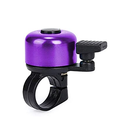 m·kvfa for Safety Cycling Bicycle Handlebar Metal Ring Black Bike Bell Horn Sound Alarm Aluminum Alloy Bike Ring Loud Crisp Clear Sound Horn Bike Accessories for Mountain Road Bike (Purple) : Sports & Outdoors