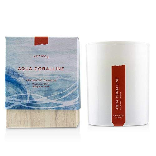 Thymes - Olive Leaf Aromatic Scented Candle - Long Lasting Fresh Scent with Gift Box - 9 oz (Leaf Thymes Olive)