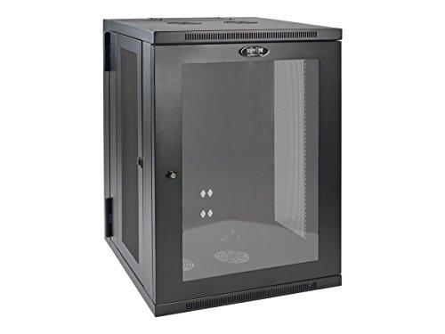 Tripp Lite 18U Wall Mount Rack Enclosure Server Cabinet with Acrylic Glass Window, Hinged, 20.5″ Deep, Switch-Depth (SRW18USG)