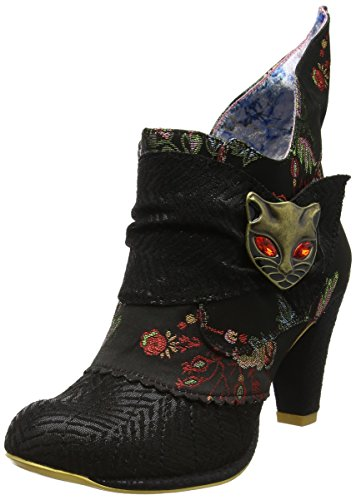 Femme Black Choice Aq Noir Irregular Bottines Miaow Satin qOP7t