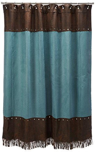 - HiEnd Accents Cheyenne Western Shower Curtain, Turquoise