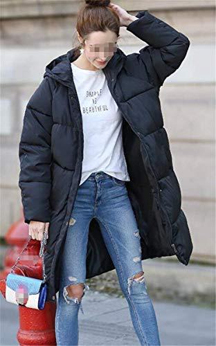 Chaqueta Colores Vintage Cálido Fashion Larga Colmar Abrigos Grandes Bolsillos Acolchada Sólidos Casual Mujer Manga Capa Capucha Con Cremallera Tallas Otoño Pluma Schwarz Largos Invierno Retro 4xvWxCZqOw