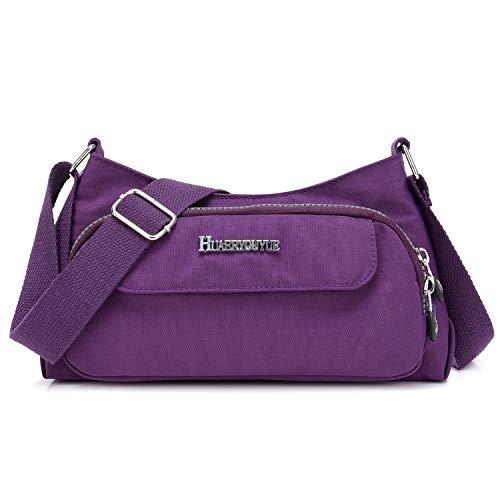 STUOYE Small Crossbody Bags for Women Cell Phone Purse Wallet Nylon Travel Shoulder Bag