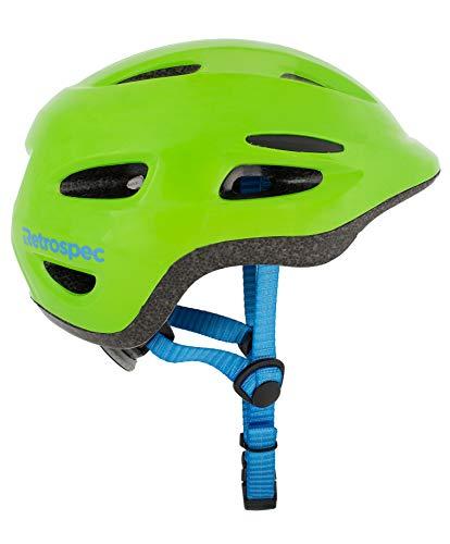 Retrospec Scout-1 Bike & Skate Helmet CPSC Approved Ages 1-10, Matte Green, S 49-53cm