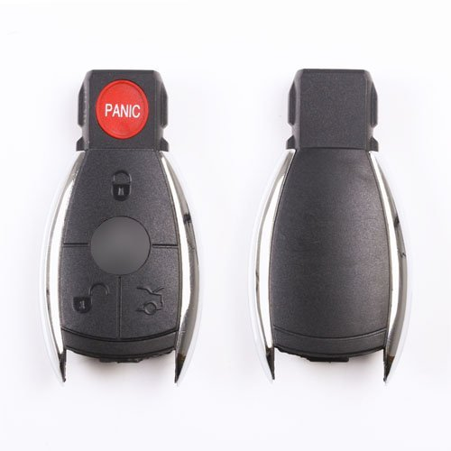 Remote replacement key fob case 4 3 panic buttons for Mercedes benz key fob battery size
