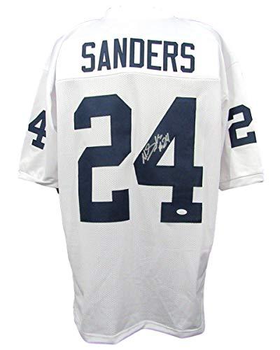 (Miles Sanders Signed/Autographed PSU Penn State White Jersey JSA 143024)