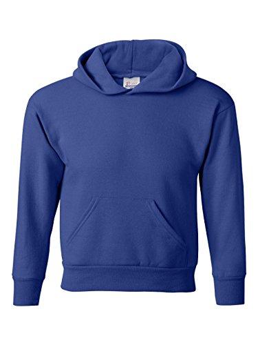 Youth No Pocket Sweatpant - Hanes Youth EcoSmart Pullover Hood, Deep Royal, Small