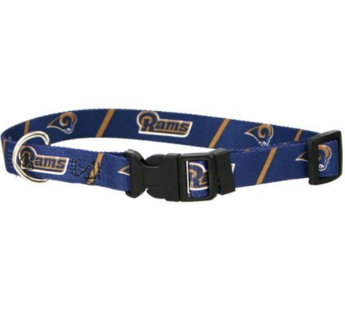 DoggieNation 716298230202 Small St. Louis Rams Dog Collar by DoggieNation