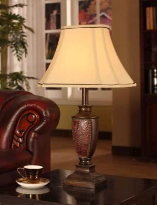 InRoom Designs Beaded Edging 27 H Table Lamp with Bell Shade (Set of 2) (Beaded Table Lamp Shade Red)