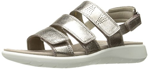 Metallic Sandals ECCO Women's Shoes Grey 5 Warm Soft qwz0PwAB