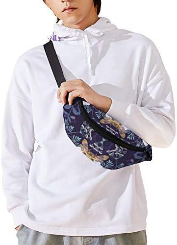 アメジストの危険な花 ウエストバッグ ショルダーバッグチェストバッグ ヒップバッグ 多機能 防水 軽量 スポーツアウトドアクロスボディバッグユニセックスピクニック小旅行
