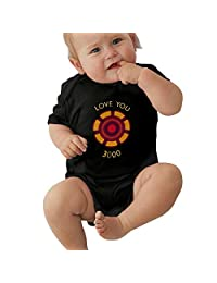 CareyH Baby Toddler I Love You 3000 Summer Short Sleeve BodysuitGift for Mothers Day