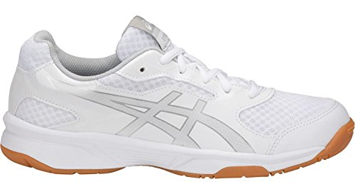 ASICS Women's Upcourt 2 Volleyball Shoe - B755Y.0193 (White/Silver - 7.5) by ASICS