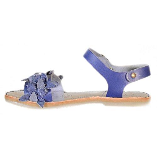 Primigi - Primigi Sandaletti Bambina Argento Pelle Fibbie 83301 Blau