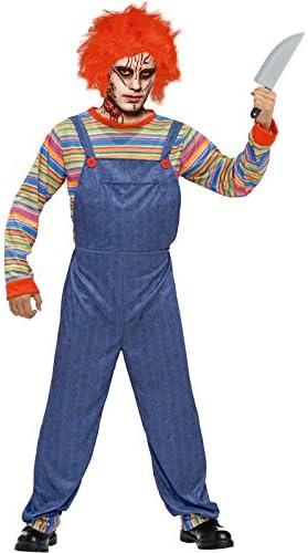 Disfraz Muñeco Asesino para hombre (S): Amazon.es: Juguetes y juegos