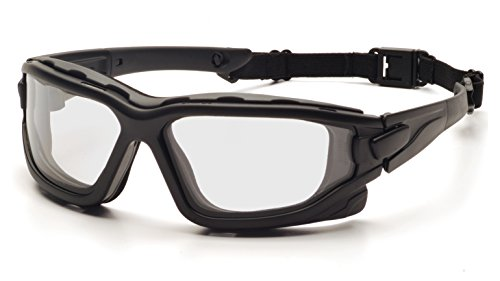 Pyramex I-Force Slim Safety Goggle, Black Frame/Clear Anti-Fog Lens (Frame Clear Black Goggle Lens)