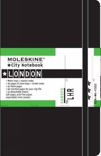 Moleskine City Notebook - London, Pocket, Black, Hard Cover (3.5 x 5.5)
