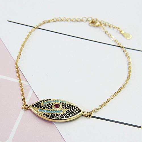 (Liudaye Micro-Inlaid Copper Gilt Lady Bracelet Gift)