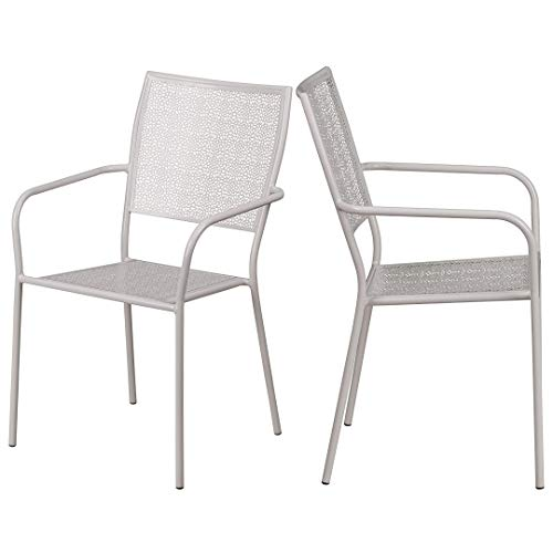 a94929dea900 KLS14 Modern Design Lightweight Stacking Patio Chair Integrated Arms with  Transparent Flower Seat and Back Patterned