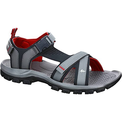 Sandales La Terrasse Imperméable Cuir Sports Lin En Plage De Les Rouge Xing Télévision Gris Sandales Chaussures Antidérapant Loisirs Les D'Hommes Hommes Forclaz1 44 Extérieure qxIX5w