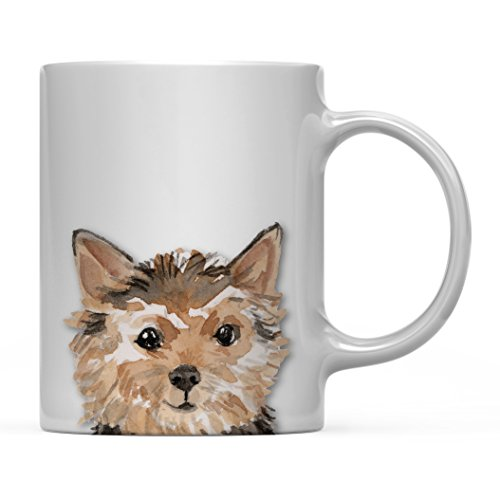 Andaz Press 11oz. Dog Coffee Mug Gift, Norfolk Terrier Up Close, 1-Pack, Pet Animal Lover Birthday Christmas Gift for Her Family