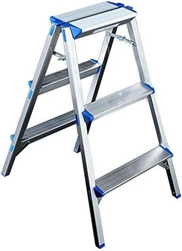 Dos escalera de mano Escalera plegable Taburete, tres, cuatro escalones de metal / aire libre Escalera, Oficina /