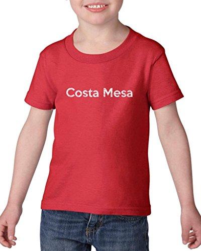 Ugo Costa Mesa CA California Map Flag Home of University of Los Angeles UCLA USC CSLA Heavy Cotton Toddler Kids T-Shirt - Mesa Costa Stores