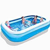 Baby Home Swimming Pool Thickening Height Indoor Family Adult Oversized Paddling Pool Children Inflatable Tub (229 * 152 * 56cm) End of the desert (Size : A)