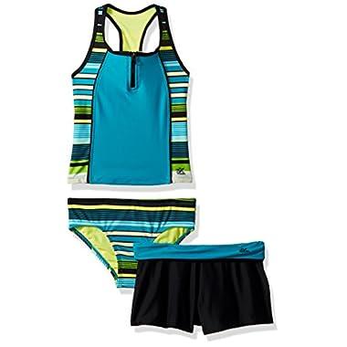 c7d2c29241302 ZeroXposur Big Girl's Two Piece Tankini Swimsuit Set, Limbo Fiji, ...