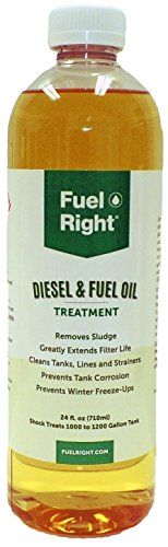 Additive Tank (Fuel Right - Diesel and Fuel Oil Tank Treatment Additive - Cleans Tanks, Prevents Corrosion, Dissolves Sludge and Prevents Fuel Freeze-Ups, 15K 24 oz Bottle)