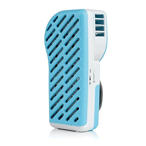 Best-electric Small Batteries or USB Mini Fan & Mini-air Conditioner(blue)