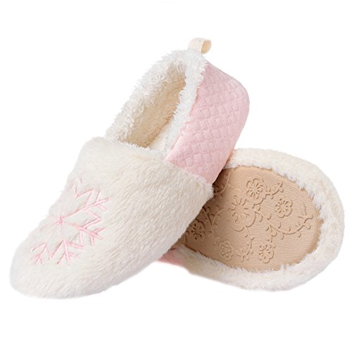 bestfur Womens Winter Warm Cozy Plush Home Shoes Slippers Pink MQFaWIin
