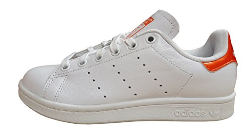 Adidas Stan Smith Womens Sneaker Bianco Arancione