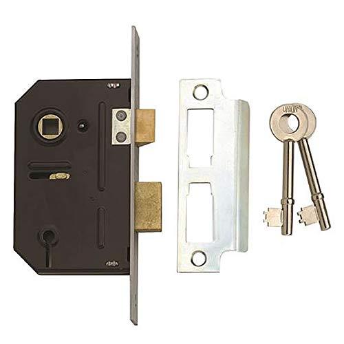 Union 2243 3 Lever Mortice Sashlock 63mm Satin Chrome Union Locks