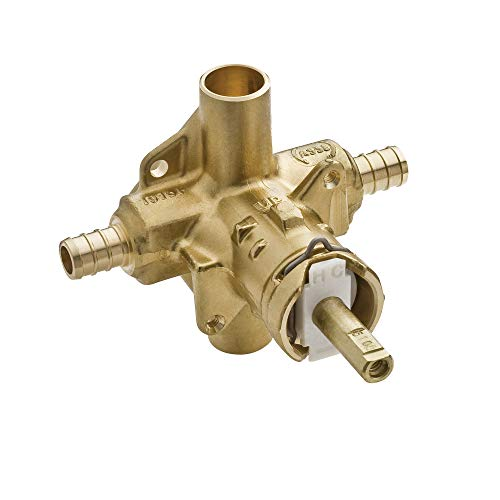 Moen 2580 M-Pact Posi-Temp Brass Pressure Balancing Shower Valve, 1/2-Inch Crimp Ring PEX Connection, 0.5, or or Unfinished