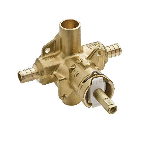 - Moen 2580 M-Pact PosiTemp Brass Pressure Balancing Shower Valve, 1/2-Inch Crimp Ring PEX Connection, 0.5,
