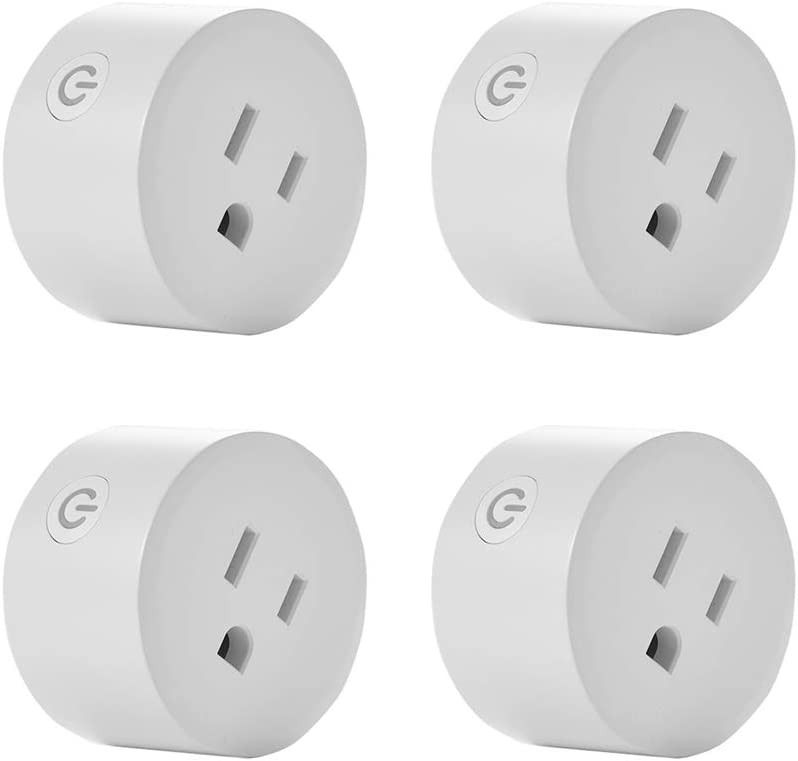 Wifi Smart Socket,Smart Plug,Smart life WiFi Plug,Outlet Compatible with Alexa and Google Home,Only 2.4G WiFi, No Need Hub,10A ,2/4 pieces ,for Home/Office (4)