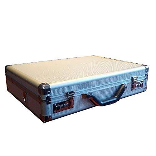 Silver Aluminum Laptop Breif Hard Case For 15-17