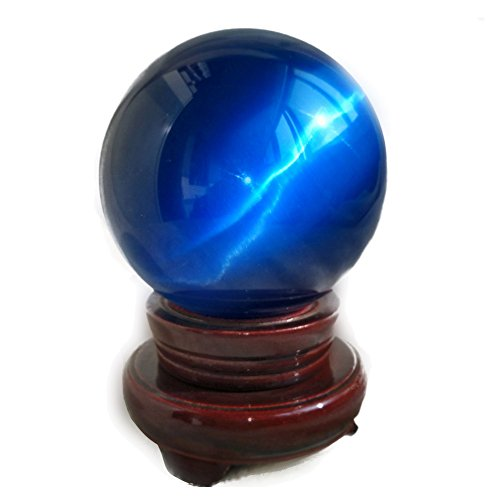 MIKINI Carved Sapphire Sphere Figurine