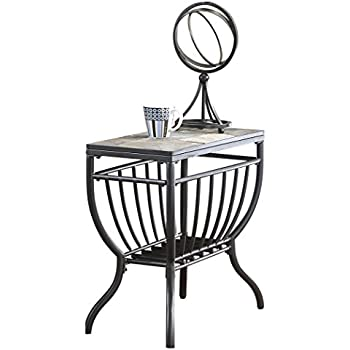 amazon ashley furniture signature design antigo chair side  ashley furniture signature design antigo chair side end table contemporary slate top with