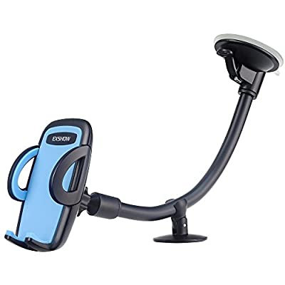EXSHOW Car Mount,Universal Windshield Dashboard 8.5 inch Long Arm Car Phone Mount for iPhone 11/ Xr/ Xs Max/X/8/7/6S Plus, Samsung Galaxy S10 S9, Nexus 5X/6P, LG, HTC and All Phones 3.5-6.5 inch(Blue)