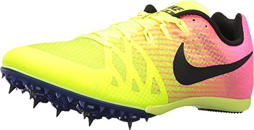 Nike Zoom Rival MD Mid Distance Track Spikes Shoes Mens Size 12 (Volt, Pink, Black) (Best Track Shoes For Mid Distance)