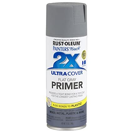 Rust-Oleum 249088 Painter's Touch Multi Purpose Spray Paint, 12-Ounce, Gray  Primer
