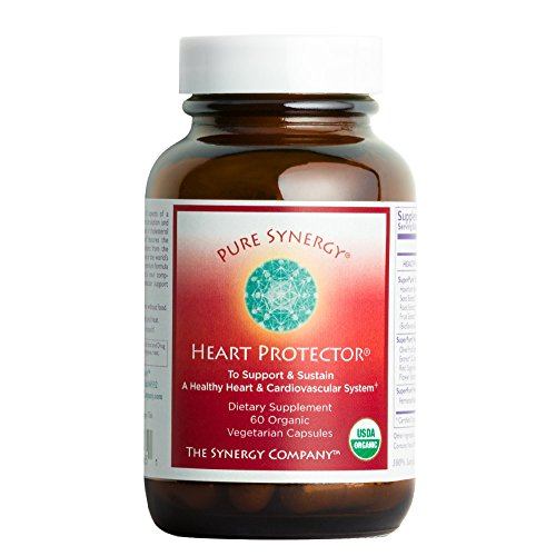 Nestled Hearts (Pure Synergy Organic Heart Protector (60 Capsules) Complete Heart Supplement w/ Hawthorn, Curcumin, Nattokinase)