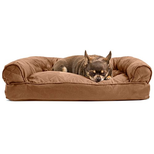 Medium 1 Piece Brown Color Quilted Pillow Sofa Style Pet Bed Dog Cat Kitten Puppy Doggy Animal Four Legged Superbly Snuggly Beautiful Soft Cozy Luxurious Comfortable Easy Feel Relax by PH (Image #2)