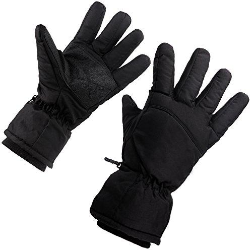 JJseason Men's Winter Gloves Fashion Outdoor Gloves Warm Waterproof Gloves Cycling Biking Gloves Snowmobile Snowboard Ski Gloves Athletic Gloves Mittens (Black)