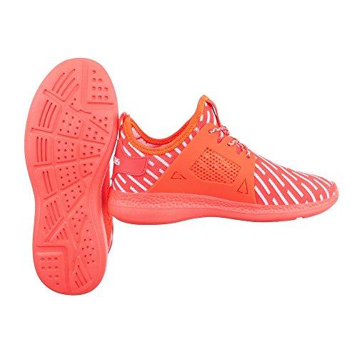 Ital-Design - Zapatillas altas Mujer Coral