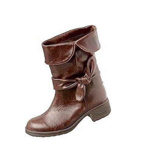 Unbekannt - Sandalias de Vestir Mujer marrón - Marron - Marron foncé
