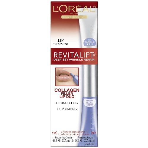 L'Oréal Revitalift Rides Profondes Collagen Filler Lip Set, 0,2 once liquide